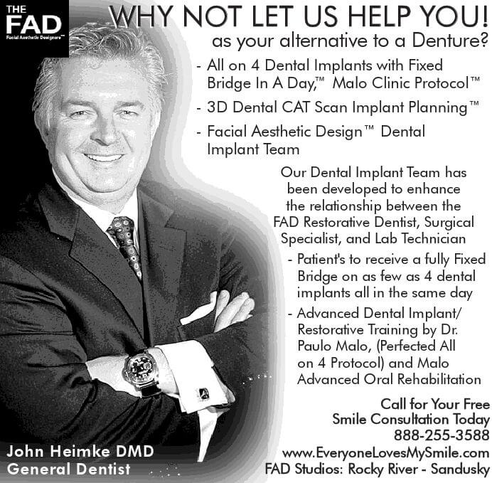 advertisement for our practice with headshot of Dr. Heimke